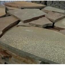 Камень плитняк песчаник серо-зеленый 2 см