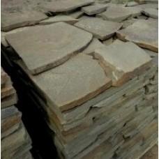 Камень плитняк песчаник серо-зеленый 3 см