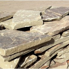 Камень плитняк песчаник серо-зеленый 4 см