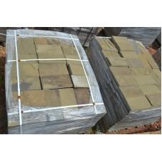 Брусчатка песчаник серо-зеленый 10*20 см