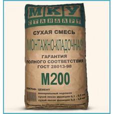 Сухая смесь МКУ М200 монтажно-кладочная