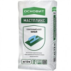 Плиточный Клей Основит Мастпликс эффективный белый AC12 W 25 кг