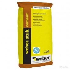 Тонкослойная штукатурка Weber.stuk cement Winter, 25 кг
