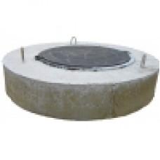 Крышка колодца с встроенным полимерным люком ППЛ 10-1