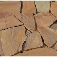Камень плитняк песчаник желто-коричневый 1,5-2 см
