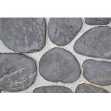 Камень сланец баклажан галтованный 2-3 см