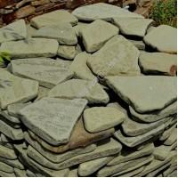 Песчаник серо-зеленый галтованный 3-4 см