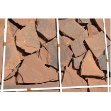 Камень плитняк песчаник терракотовый 1,5 см