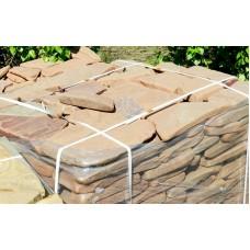 Камень песчаник терракотовый галтованный 1,5-2 см