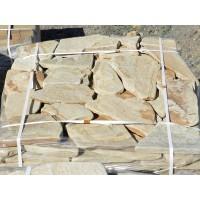 Камень песчаник желто-коричневый галтованный 3 см