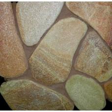 Камень златолит желтый галтованный 3-4 см